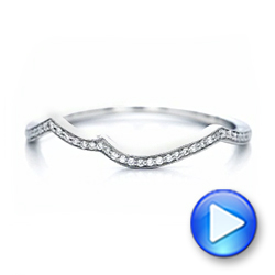 Custom Diamond Wedding Band - Interactive Video - 102204 - Thumbnail