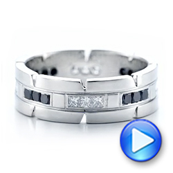 Custom Diamond Men's Wedding Band - Interactive Video - 102208 - Thumbnail