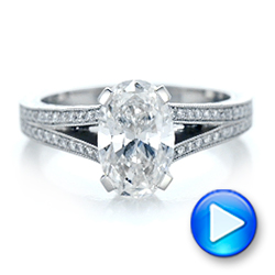 Custom Oval Diamond Engagement Ring - Interactive Video - 102214 - Thumbnail
