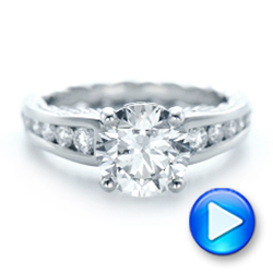 Custom Diamond Engagement Ring - Interactive Video - 102218 - Thumbnail