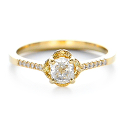 18k Yellow Gold 18k Yellow Gold Custom Diamond And Yellow Sapphire Engagement Ring - Video -  102240 - Thumbnail