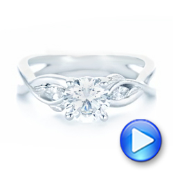 Floral Diamond Engagement Ring - Interactive Video - 102241 - Thumbnail