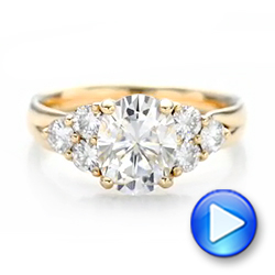 Custom Moissanite Engagement Ring - Interactive Video - 102242 - Thumbnail