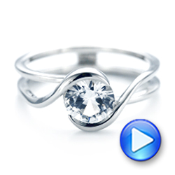 Custom Interlocking Solitaire Engagement Ring - Interactive Video - 102244 - Thumbnail