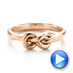 14K Gold Custom Infinity Knot Fashion Ring - Video -  102294 - Thumbnail