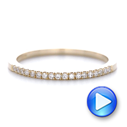Custom Diamond and Rose Gold Wedding Band - Interactive Video - 102295 - Thumbnail