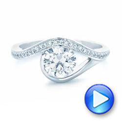 Wrapped Diamond Engagement Ring - Interactive Video - 102330 - Thumbnail