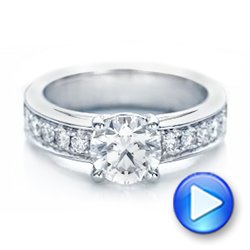 Custom Diamond Engagement Ring - Interactive Video - 102345 - Thumbnail