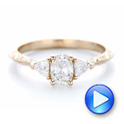Custom Diamond and Rose Gold Engagement Ring - Interactive Video - 102352 - Thumbnail