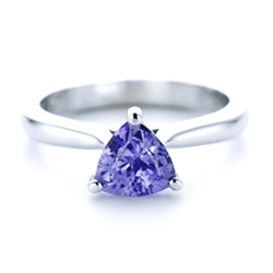 Custom Solitaire Purple Sapphire Engagement Ring - Interactive Video - 102401 - Thumbnail