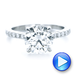 18k White Gold 18k White Gold Custom Diamond Engagement Ring - Video -  102402 - Thumbnail