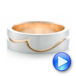 Custom Two-Tone Men's Wedding Band - Interactive Video - 102417 - Thumbnail