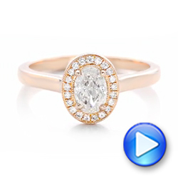 Custom Rose Gold and Diamond Engagement Ring - Interactive Video - 102432 - Thumbnail