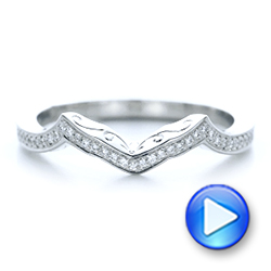 Custom Diamond and Hand Engraved Wedding Band - Interactive Video - 102461 - Thumbnail