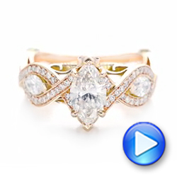 Custom Two-Tone Diamond Engagement Ring - Interactive Video - 102464 - Thumbnail