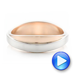 Custom Two-Tone Men's Wedding Band - Interactive Video - 102467 - Thumbnail