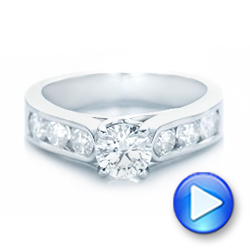 Custom Diamond Engagement Ring - Interactive Video - 102470 - Thumbnail