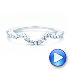 Platinum Platinum Matching Diamond Wedding Band - Video -  102476 - Thumbnail