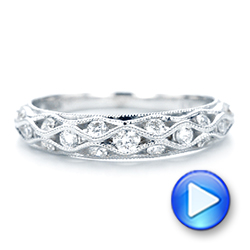 Vintage Diamond Wedding Band - Interactive Video - 102531 - Thumbnail