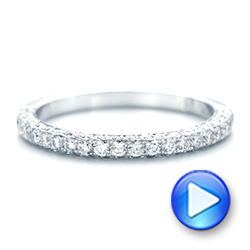 18k White Gold 18k White Gold Pave Diamond Wedding Band - Video -  102559 - Thumbnail
