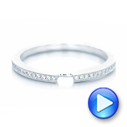 Custom Diamond Wedding Band - Interactive Video - 102598 - Thumbnail