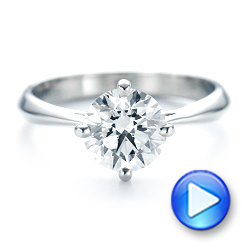 Custom Solitaire Diamond Engagement Ring - Interactive Video - 102600 - Thumbnail