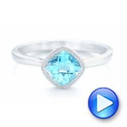 Solitaire Blue Topaz Ring - Interactive Video - 102616 - Thumbnail