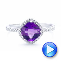 Amethyst and Diamond Halo Ring - Interactive Video - 102648 - Thumbnail