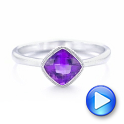 Solitaire Amethyst Ring - Interactive Video - 102649 - Thumbnail