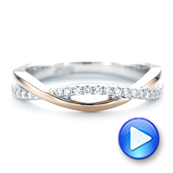 14k White Gold And 14K Gold Two-tone Wedding Band - Video -  102679 - Thumbnail