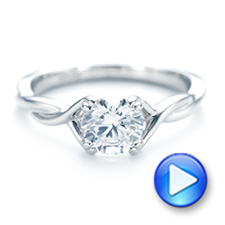 Petite Twist Solitaire Engagement Ring - Interactive Video - 102702 - Thumbnail