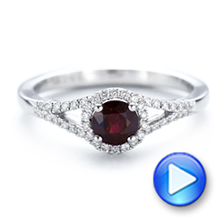 Ruby and Diamond Halo Ring - Interactive Video - 102721 - Thumbnail