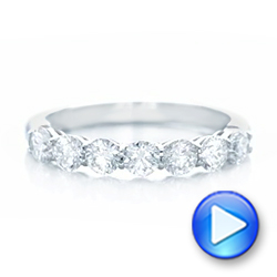 Platinum Custom Diamond Wedding Band - Video -  102746 - Thumbnail