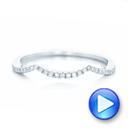 14k White Gold 14k White Gold Custom Diamond Wedding Band - Video -  102753 - Thumbnail