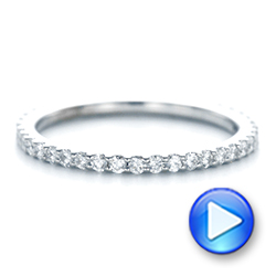 Platinum Platinum Diamond Eternity Wedding Band - Video -  102761 - Thumbnail