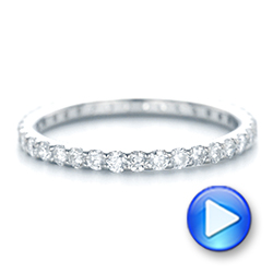 18k White Gold 18k White Gold Diamond Eternity Wedding Band - Video -  102764 - Thumbnail