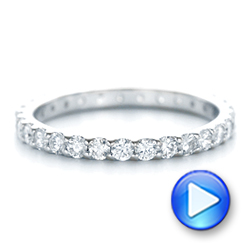 18k White Gold 18k White Gold Diamond Eternity Wedding Band - Video -  102765 - Thumbnail