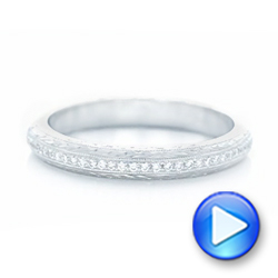 Platinum Custom Diamond Wedding Band - Video -  102768 - Thumbnail