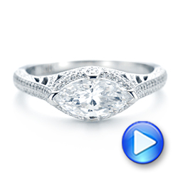 Marquise Diamond Engagement Ring - Interactive Video - 102769 - Thumbnail
