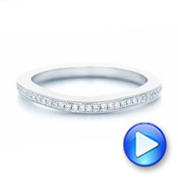 Custom Diamond Wedding Band - Interactive Video - 102811 - Thumbnail