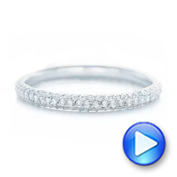 Custom Diamond Eternity Wedding Band - Interactive Video - 102817 - Thumbnail