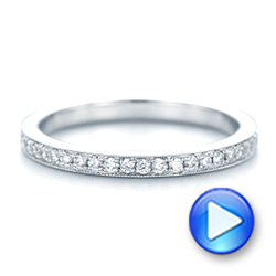 14k White Gold Diamond Eternity Wedding Band - Video -  102818 - Thumbnail
