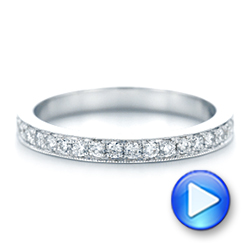 14k White Gold Diamond Eternity Wedding Band - Video -  102819 - Thumbnail