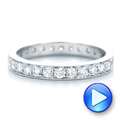 Diamond Eternity Wedding Band - Interactive Video - 102821 - Thumbnail