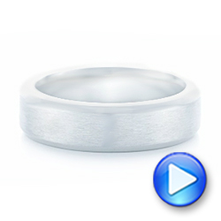 Platinum Custom Brushed Men's Wedding Band - Video -  102843 - Thumbnail