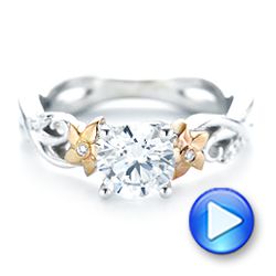 18k White Gold And 18K Gold Two-tone Diamond Engagement Ring - Video -  102844 - Thumbnail