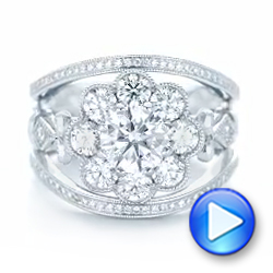 Custom Diamond Interlocking Engagement Ring - Interactive Video - 102845 - Thumbnail