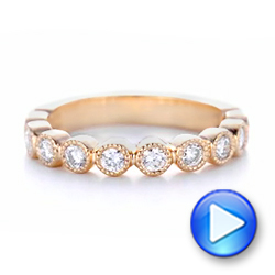 Custom Rose Gold Diamond Wedding Band - Interactive Video - 102849 - Thumbnail