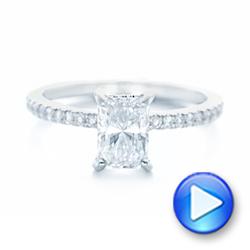 18k White Gold 18k White Gold Custom Diamond Engagement Ring - Video -  102856 - Thumbnail