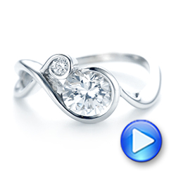 Wrap Diamond Engagement Ring - Interactive Video - 102878 - Thumbnail